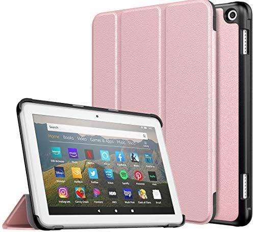 TiMOVO Funda Compatible con All-New Kindle Fire HD 8 Tablet (10th Generation, 2020 Release), Funda Ultra Fina y Liviana para la Tableta Fire HD 8 & 8 Plus 2020 Tableta - Oro Rosa