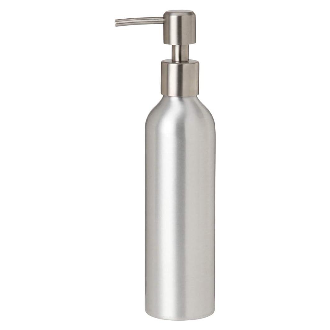 エッセイ書き込み偽装するアルミポンプボトル 250mL [ オイルウォーマー オイルトリートメント オイルボトル マッサージオイル アロママッサージオイル ボディマッサージオイル ボディオイル アロマオイル ]