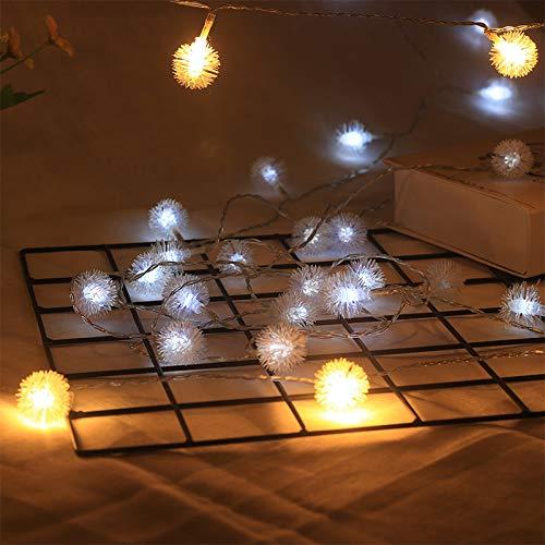 LED-lichtketting, gordijn raam tuin buiten sprookjes licht tuin zomer LED kleine lichten knipperende lichten dromen paardenbloem batterij wit 30 lichten