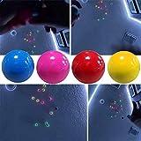4 pezzi fluorescenti palla da parete appiccicosa palla bersaglio appiccicosa giocattolo decompressione regalo per bambini, palline appiccicose che si attaccano alla parete giocattoli antistress