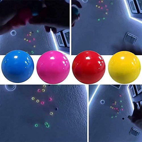DUOCACL Squash de Bola de Meta pegajosa Fluorescente de 4 Colores 6cm, Juguete de descompresión para Adultos y niños