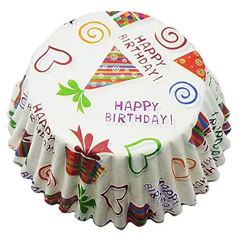 Muffin-papieren bekers - 100 eenheden - capcakevormen - verjaardagen - 3 cm hoog - 7 cm diameter - origineel cadeau-idee