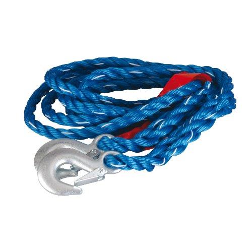 UNITEC 73524 Abschleppseil, DIN 2500 kg, Schnellverschluss, blau