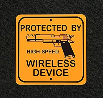 A Homim Protected High Speed Wireless Device 1911 Gun 2nd Admendment 12 inch 12 inch Metal Sign