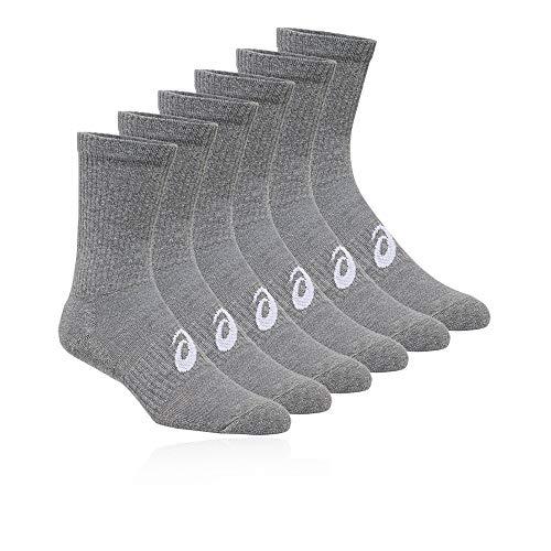 Asics 6Pkk Crew Sock Calcetines, Unisex Adulto, Heather Grey, XL