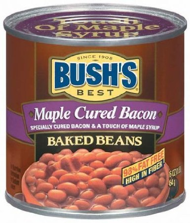 Bush's Best Maple Cured Bacon Baked Beans 16 Oz (Pack of 6)