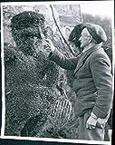 1950 Charlie Jones Garden Trims Hitler Stubby Mustache Landscape WireVintage Photo 8X10