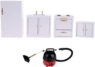 Dollhouse Miniature Kitchen Furniture Refrigerator Hearth Vacuum Cleaner