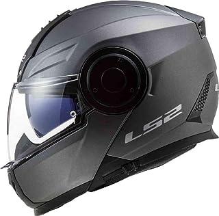 LS2, Casco modular de moto, Scope nardo gris, XL