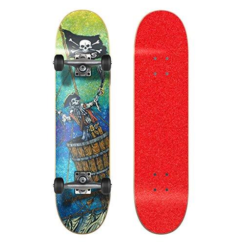 Best Buy! SkateXS Beginner Pirate Street Skateboard