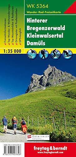 WK 5364 Hinterer Bregenzerwald - Kleinwalsertal - Damüls, Wanderkarte 1:35.000: GPS-tauglich. Freizeitführer. Ortsregister (freytag & berndt Wander-Rad-Freizeitkarten)