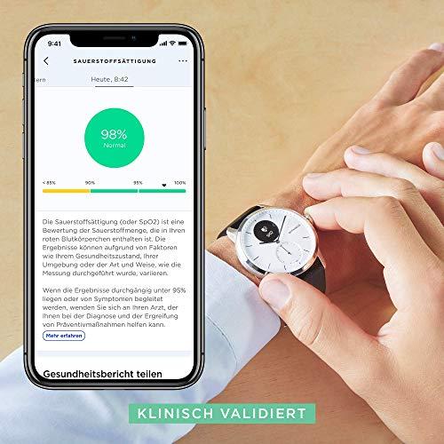 Withings Unisex-Adult Scanwatch 42mm White Hybrid Smartwatch mit EKG, Herzfrequenzsensor und Oximeter, weiß - 5