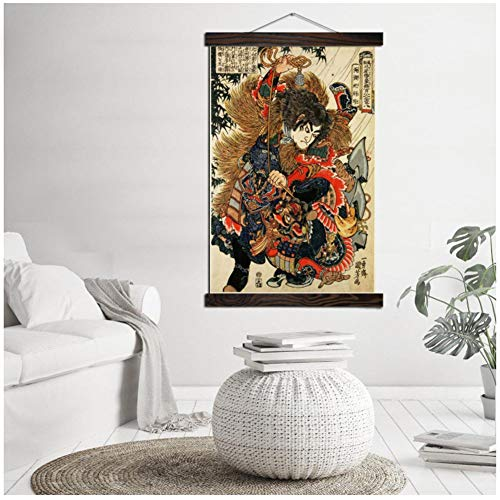Samurai tradicional de Japón Impresión moderna del arte de la pared Carteles del arte pop Desplazamiento Obra de arte Lienzo Pintura Cuadros de pared para sala de estar