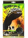 King.J Super Long Unisex Spandex Cap for Dreadlocks (Black)