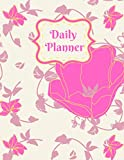 Daily Planner: 8.5 x 11in - 200 Daily Planning Pages - Undated - Passwords - Contacts - Annual Planner - Goal Checklist - Habit Tracker - 2021 Calendar Pages