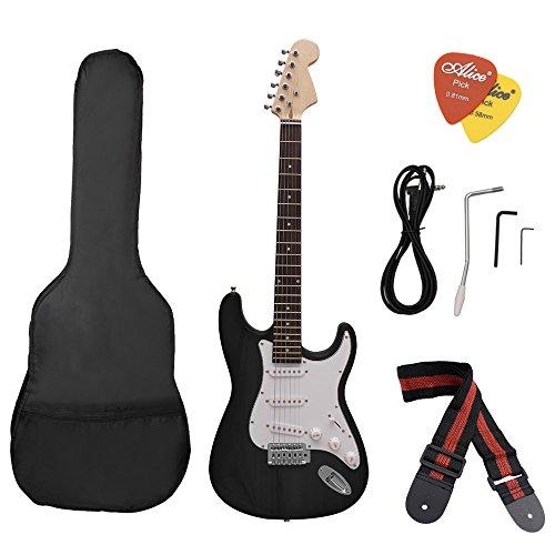 ammoon ST Eléctrico Guitarra Tilo Cuerpo Diapasón de Palo