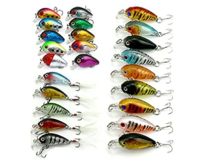 HENGJIA Mixed Fishing Lures Set Kit 1.6-4g 3models Mini Crankbait with Rattles Plastic Artificial Hard Baits Bionic Wobbler Tackle Hook by HENGJIA