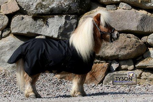 600 D Klett Regendecke Schwarz Winterdecke Outdoordecke Shetty Pony Decke 65 70 75 80 85 90 95 100 cm Hier 100 cm