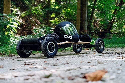 OUTSTORM 31MPH Off Road Electric Skateboard – 3300w Motorized Mountain Longboard with Dual Motors - 11 Layers, All-Terrain, 4 Wheels, Remote Controlled High Speed Board