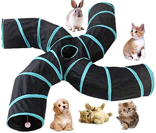 Beststar, tunnel a 4 vie per gatti, cani, cuccioli, gatti, conigli, per interni ed esterni, grande