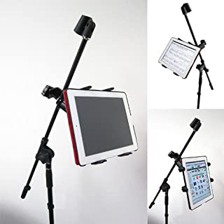 ChargerCity Music MIC Microphone Stand Tablet Mount with 360C Swivel Adjustment Holder for All Apple iPad 4 3 2 1 MINI Goo...