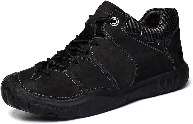 Män's Casual utomhus utomhus utomhus skor läder Non Slip Plus sammet Winter Keep Warm skor skor Hiking skor, A,44  billiga märkesvaror