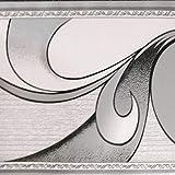Dundee Deco BD3222 - Rotolo di carta da parati con motivo astratto, 10 x 10 cm, autoadesivo, colore: grigio