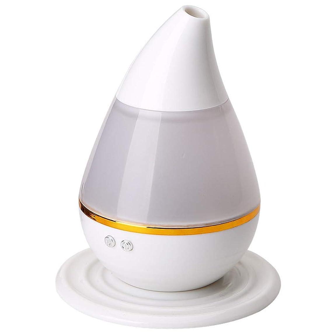 手段追放する悩みエッセンシャル オイル ディフューザー, 涼しい霧の加湿器 7色LEDムードランプ そして 自動シャットオフ アロマディフューザー の ホーム オフィス Yoga 車-ホワイト 12x15cm