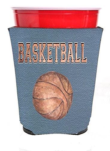 Canasta de baloncesto roja con taza de café