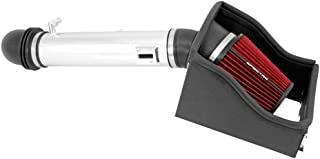 Spectre Performance Air Intake Kit with Washable Air Filter: 2011-2014 Ford F150, 5.0L V8, Red Oiled Filter with Polished Aluminum Tube, SPE-9976
