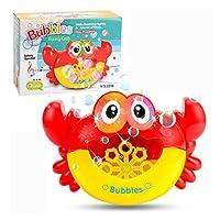 バブルガンかわいいカエルの自動バブル機械石鹸水バブルブロワーミュージック屋外のための屋外のおもちゃのための子供Juguetesおもちゃ (色 : Crab With box)