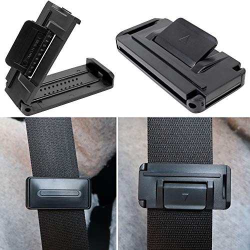 Cinghie di sicurezza per auto, fermo, regolazione tensione della cinghia e protegge i punti sensibili, confezione da 2 pezzi, fino a 53 mm larghezza cinghia I cinghia regolabile e impostabile