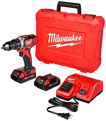 Milwaukee 2606-22CT M18 Cordless Drill/Driver Kit, 18 V, Red