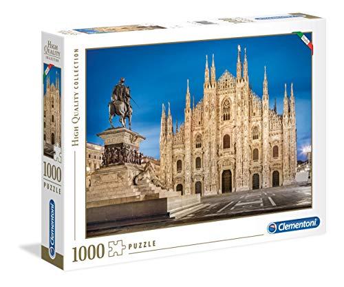 Clementoni- High Quality Collection-Milan Puzzle, 1000 Pezzi, Multicolore, 39454