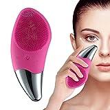 Masajeador facial Limpiador Facial recargable, Dispositivo de silicona, belleza y cuidado de la piel fucsia