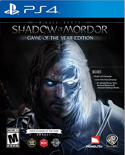 Middle Earth: Shadow of Mordor Game of the Year - PlayStation 4