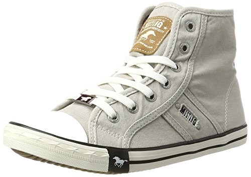 MUSTANG Damen 1099-502-22 High-Top, Grau (22 hellgrau), 37 EU