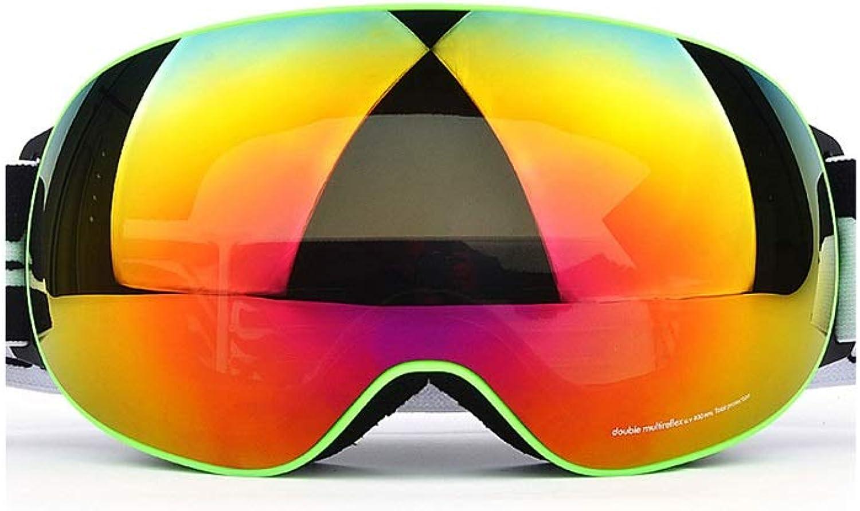 IUYWL Ski Goggles Large Spherical Double-layer Anti-fog And Anti-UV Goggles Can Wear Myopia Glasses Ski goggles