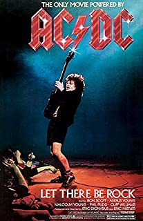 USWay 188140 AC/DC: Let There Be Rock 1980 Movie Decor Wall 24x18 Poster Print