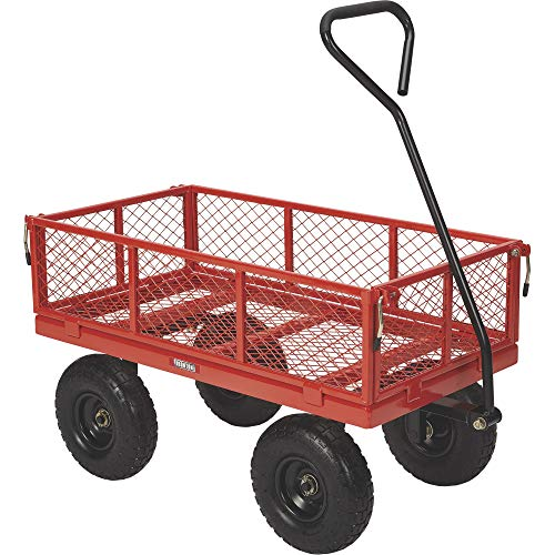 Ironton Steel Utility Cart - 400-Lb. Capacity, 34in.L x 18in.W
