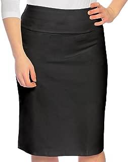 Kids Big Girls' Modest Knee Length Stretch Pencil Skirt in Lightweight Cotton Lycra