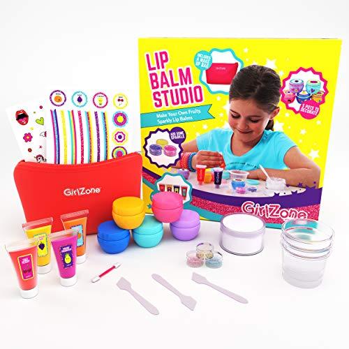 Geschenke für Mädchen - Lippenbalsam Selber Machen, 22-teilig- Kinderschmink Set - Kinder Lippenstifte - Kinderkosmetik Make-up-set - Geschenk für Mädchen 6-10 Jahre