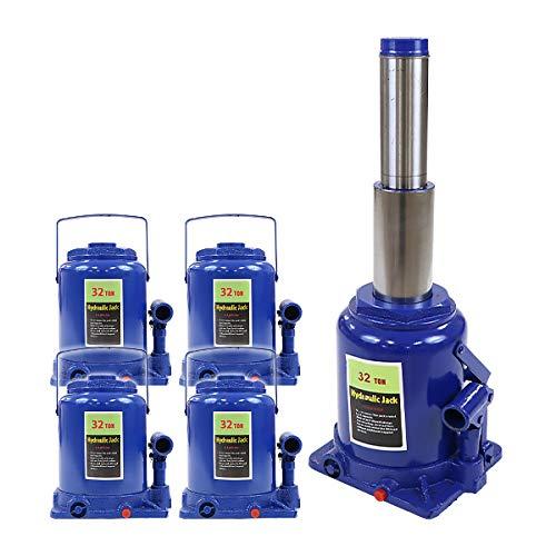 ボトルジャッキ 油圧式 定格荷重約32t 約32.0t 約32000kg 4台セット 4個 油圧ジャッキ 二段階 三段階 多段階 だるまジャッキ ダルマジャッキ ジャッキ 手動 安全弁付き ジャッキアップ ハイアップ タイヤ交換 工具 整備 修理 メンテナ