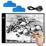 Mesa de Luz Dibujo A4, Hisome Ultrathin 3.5mm A4 USB LED Tablet Box Tracer Para Dibujo,...
