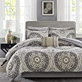 Madison Park Essentials MPE10-152 Serenity Complete Bed and Sheet Set Queen Taupe