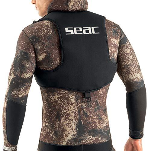 SEAC Weight Vest, Gilet Schienalino Porta Piombi per Pesca Sub, Freediving e Snorkeling Unisex Adulto, Nero, Standard