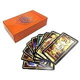 DALIN Easy Tarot 78 cartas Deck Guidance of Fate Mysterious Inglés Juego de cartas Oracle