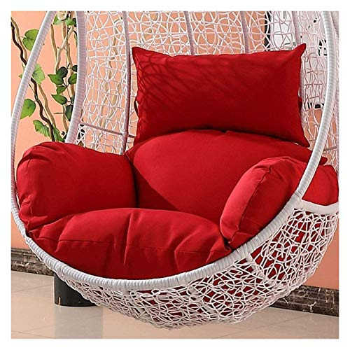 LLNN Home Decoration Swing Chair Cushion Wicker Rattan Hanging Egg Chair Pads Non-Slip Soft Swing Chair Cushion Without Stand Indoor Balcony Pad Garden Hanging Basket Furniture Cushion