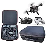 FPV Drone Case Compatible with DJI FPV Combo, Waterproof Hard Shoulder Backpack Carrying Bag Compatible with DJI FPV Drone, Goggles V2, Remote Controller 2, Battery and Drone Accessories