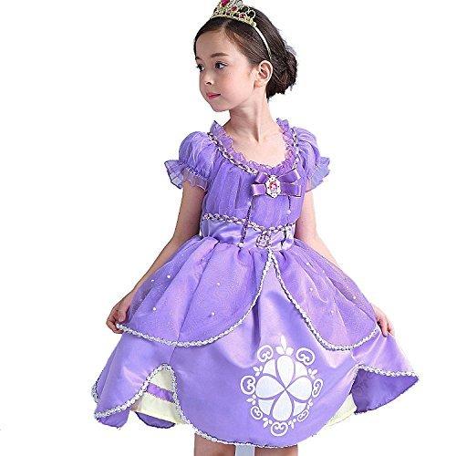 HAWEE Princesa Disfraz de Vestido de Princesa Grimm's Fairy Tales Sofia